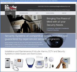 Invader Security Alarms CCTV Worthing West Sussex