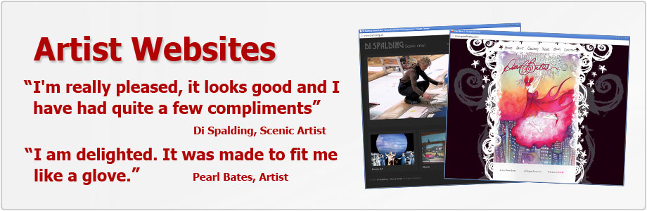 Websites for Artists with SEO for top rankings on Google